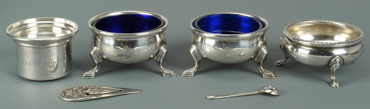 Lot 738: Grouping of Silver Table Items, 10 pcs.