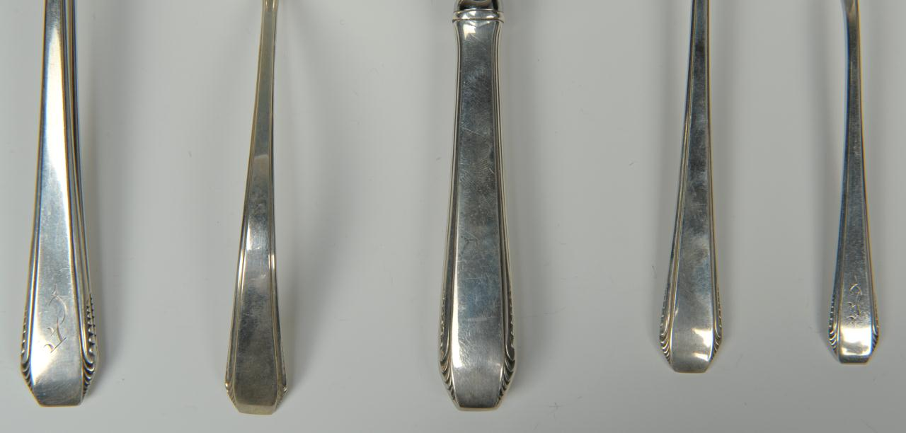 """Lot 740: Towle """"Cascade"""" Sterling Flatware, 55 pieces"""
