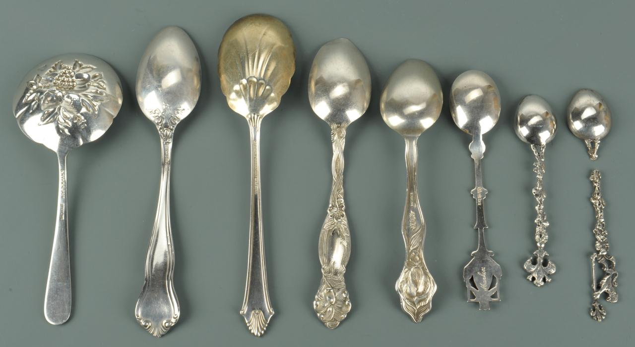 Lot 743: Grouping of Sterling Flatware Items, 12 pcs.