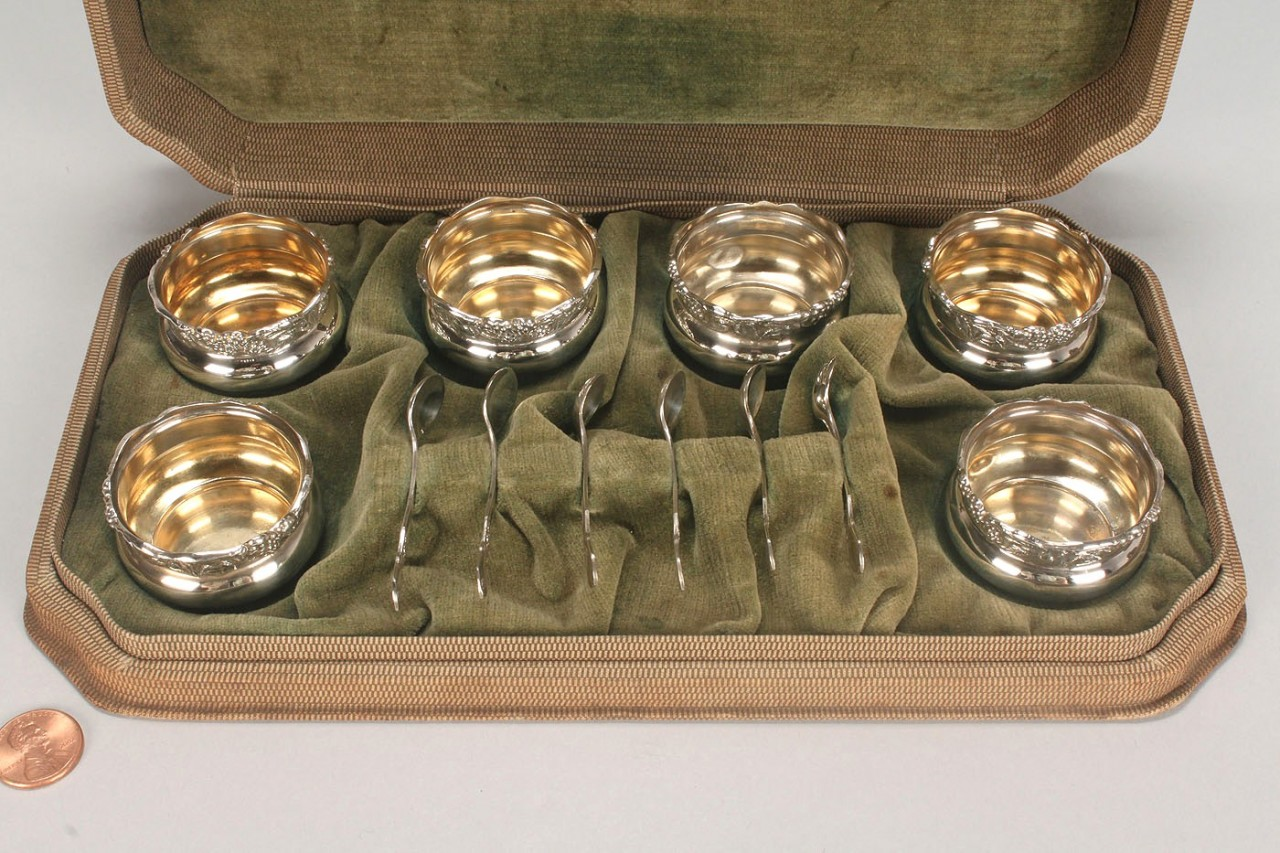Lot 744: Group Of Sterling Table Items, 14 total
