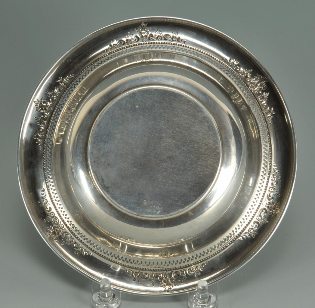 Lot 745: Two Sterling Candy Dishes by Reed & Barton