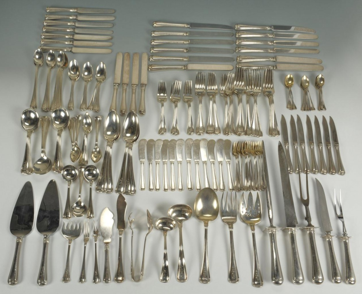 Lot 81: 183 pieces Gorham Old French Sterling Flatware