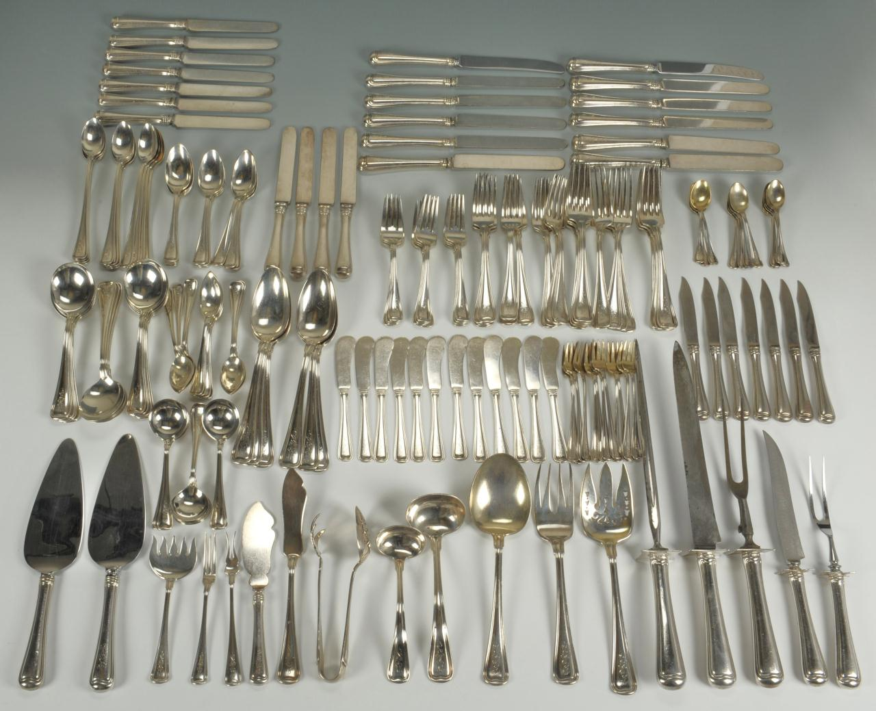 & Lot 81: 183 pieces Gorham Old French Sterling Flatware