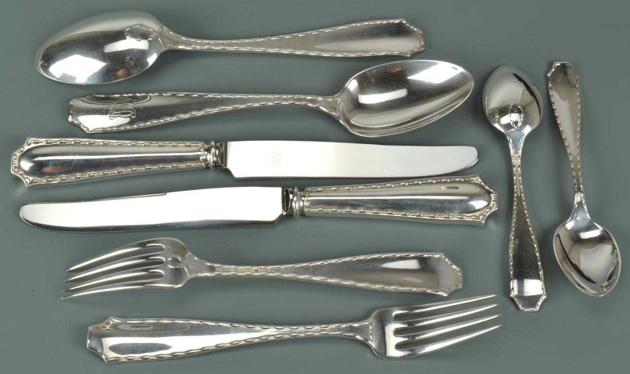 "Lot 84: Tiffany Sterling Flatware, ""Marquis,"" 24 pcs."