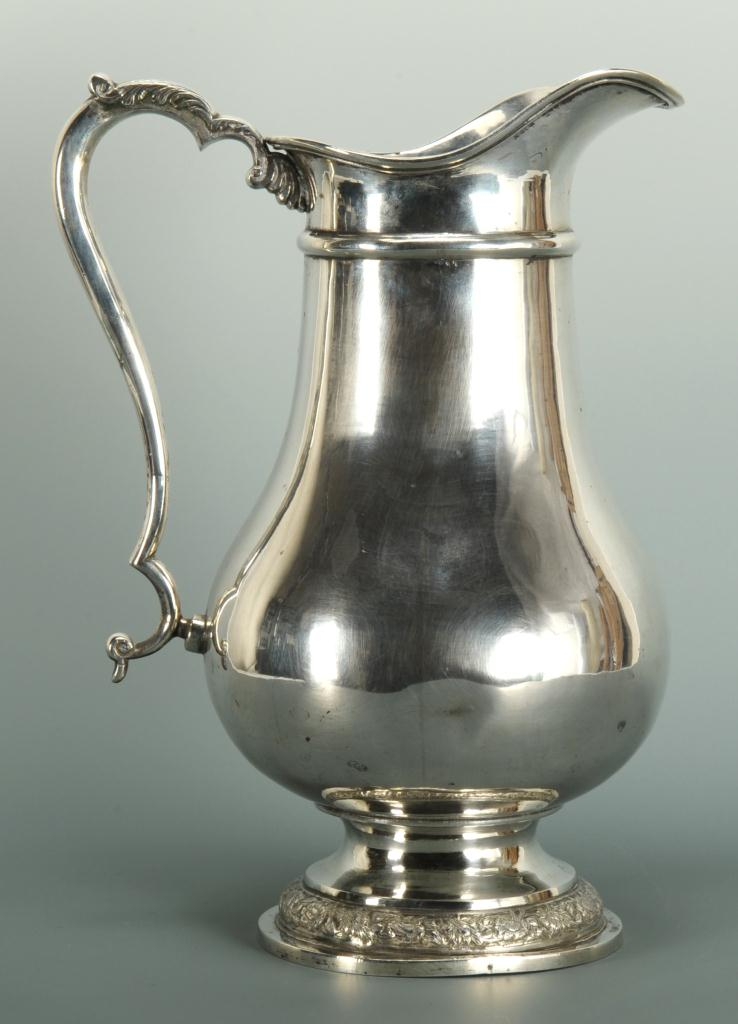 Lot 86: Persian Silver Water Pitcher