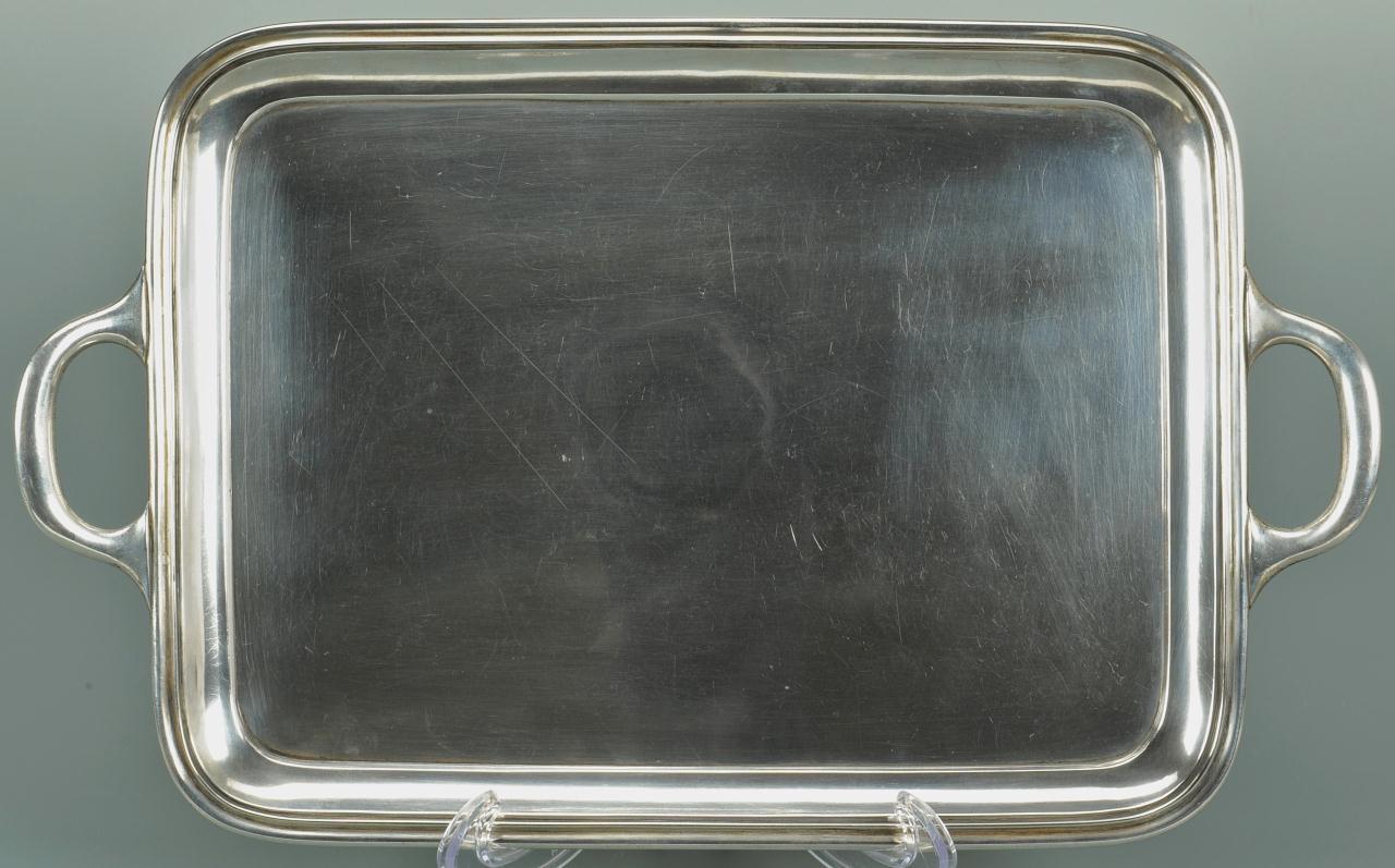 Lot 90: Russian Silver Tray, possibly Henrik Hacklin