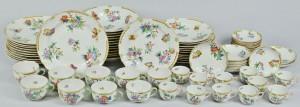 Lot 109: Herend Queen Victoria Dinnerware, 76 pcs