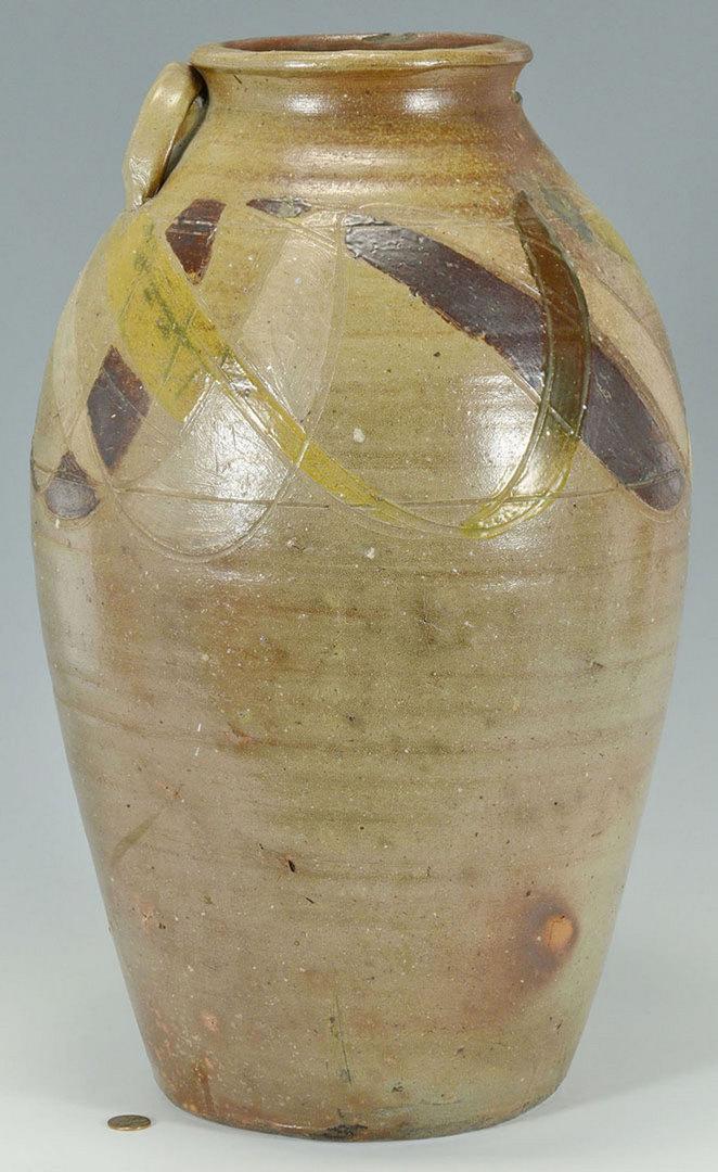 Lot 112: Southern decorated jar, probably J. H. Owen