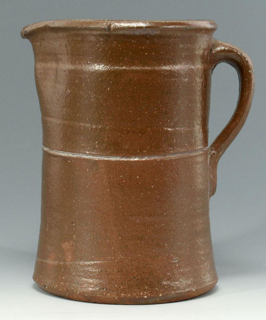 Lot 114: Georgia Salt Glazed Pottery Pitcher, Attrib. Stork