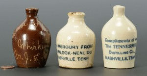 Lot 115: 3 Miniature Tennessee Whiskey Jugs, Nashville area