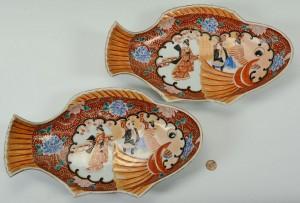 Lot 11: Pair of Japanese Imari Fish Platters