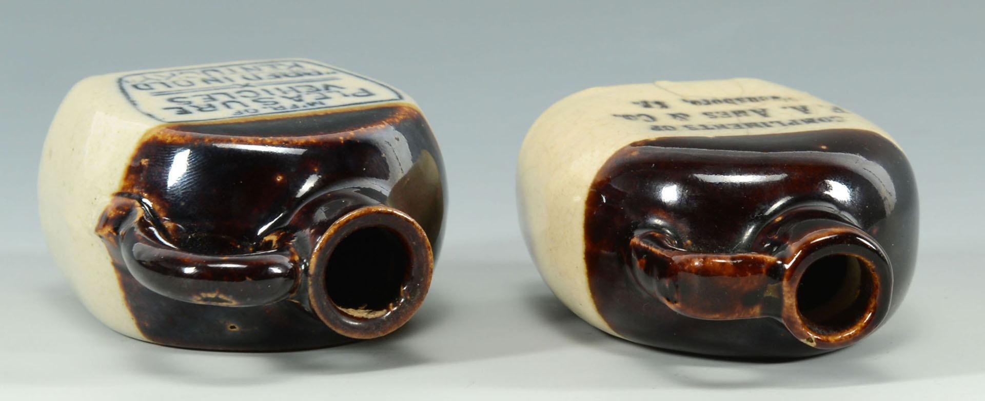 Lot 122: 2 Miniature Kentucky Whiskey Jugs, Owensboro, KY