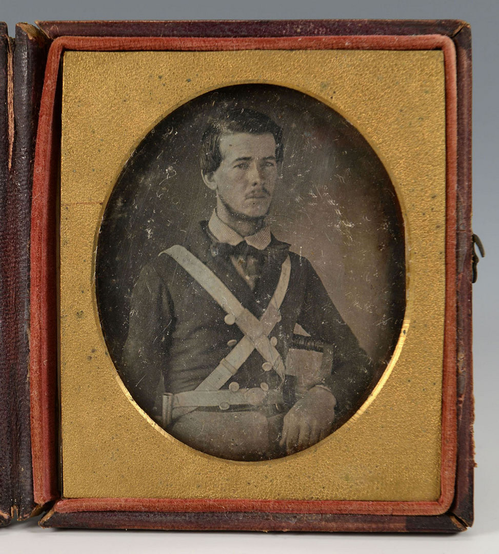 Lot 124: 2 Soldier Photographs, Mexican and Civil War