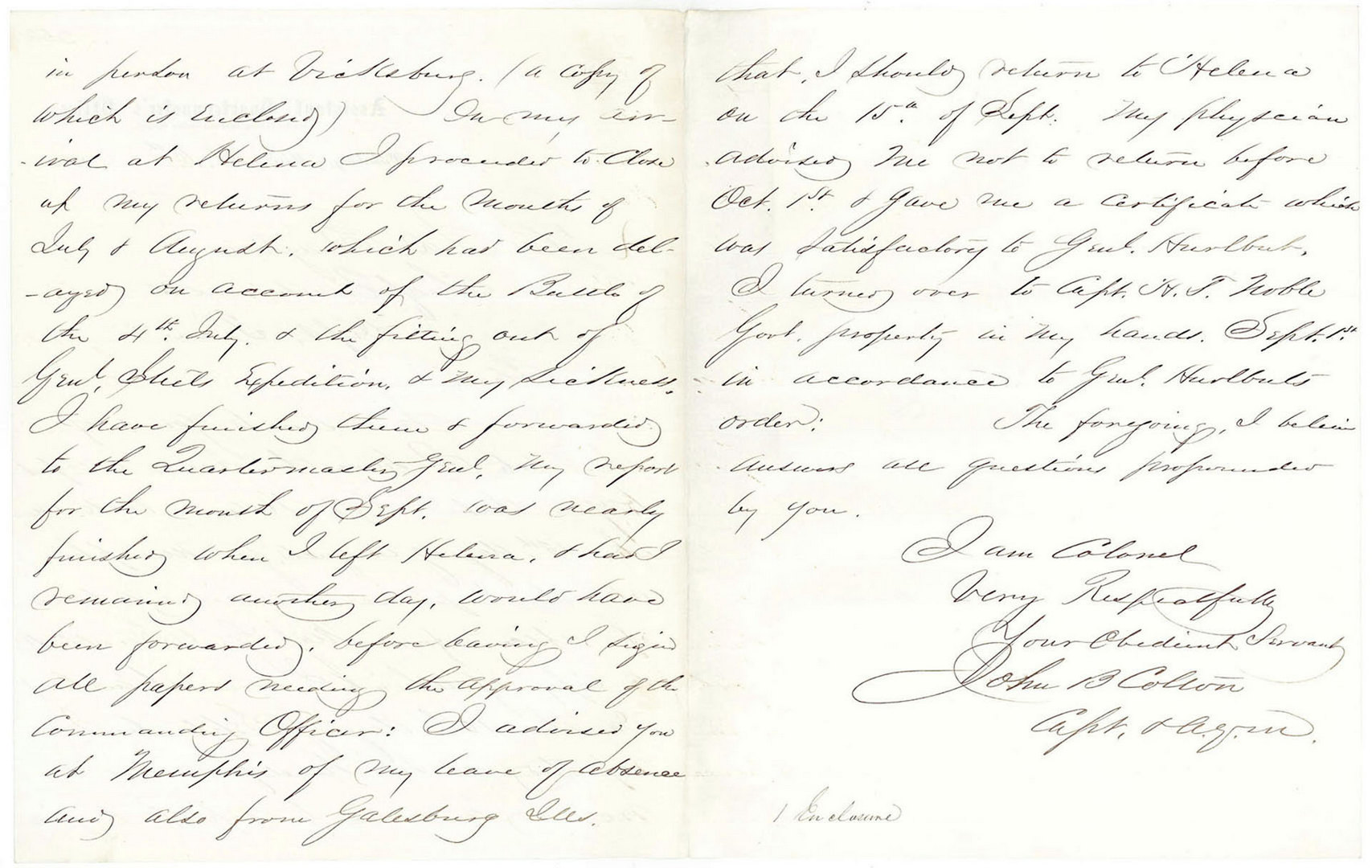 Lot 131: Group of Civil War Union letters to Col. JD Bingha