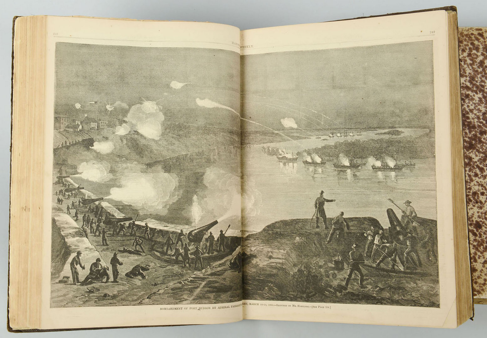 Lot 132: 1863 and 1869 Bound Volumes Harper's Weekly