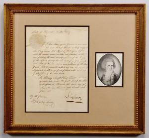 Lot 137: 1805 John Sevier signed document
