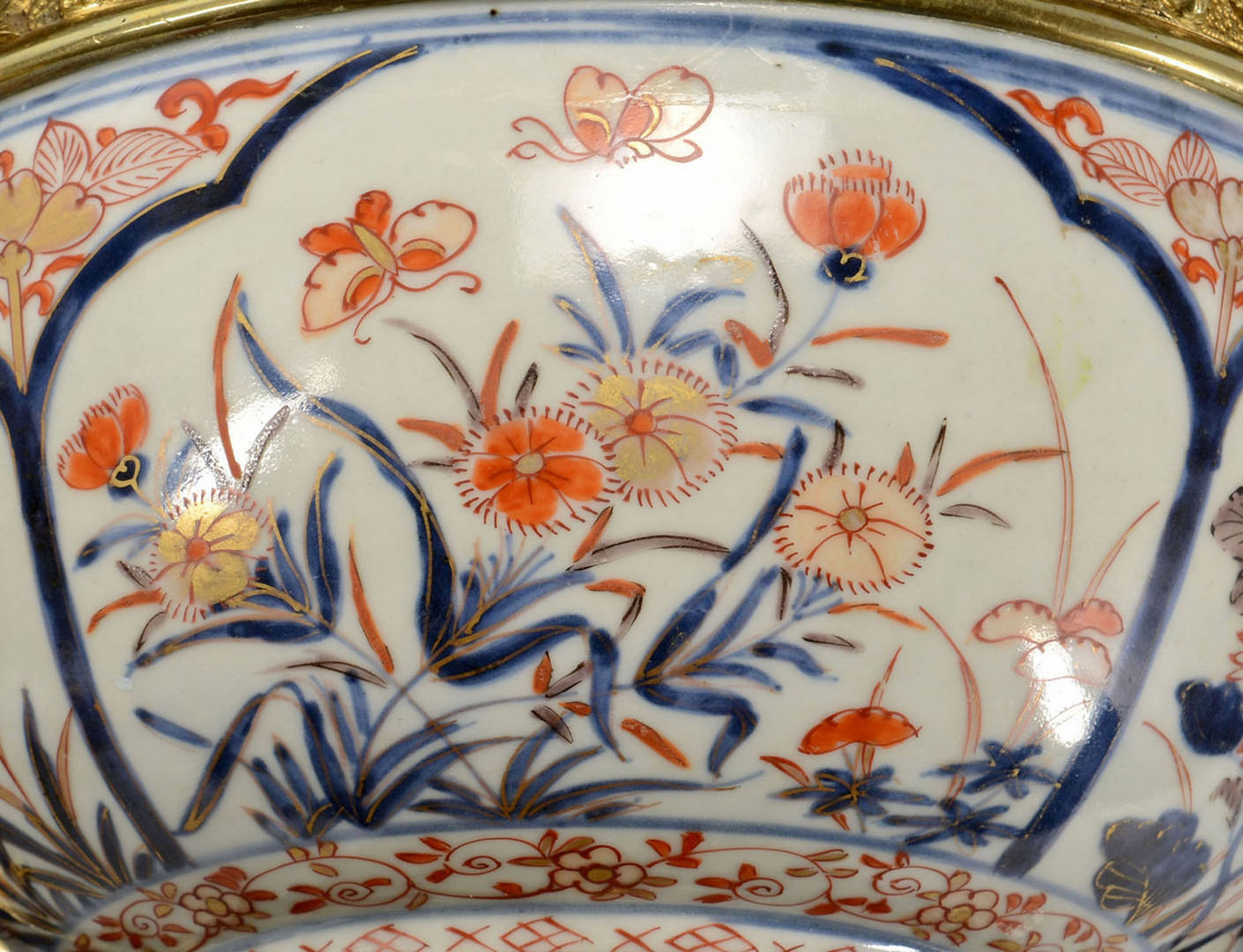 Lot 13: Bronze Mounted Imari Porcelain Bowl