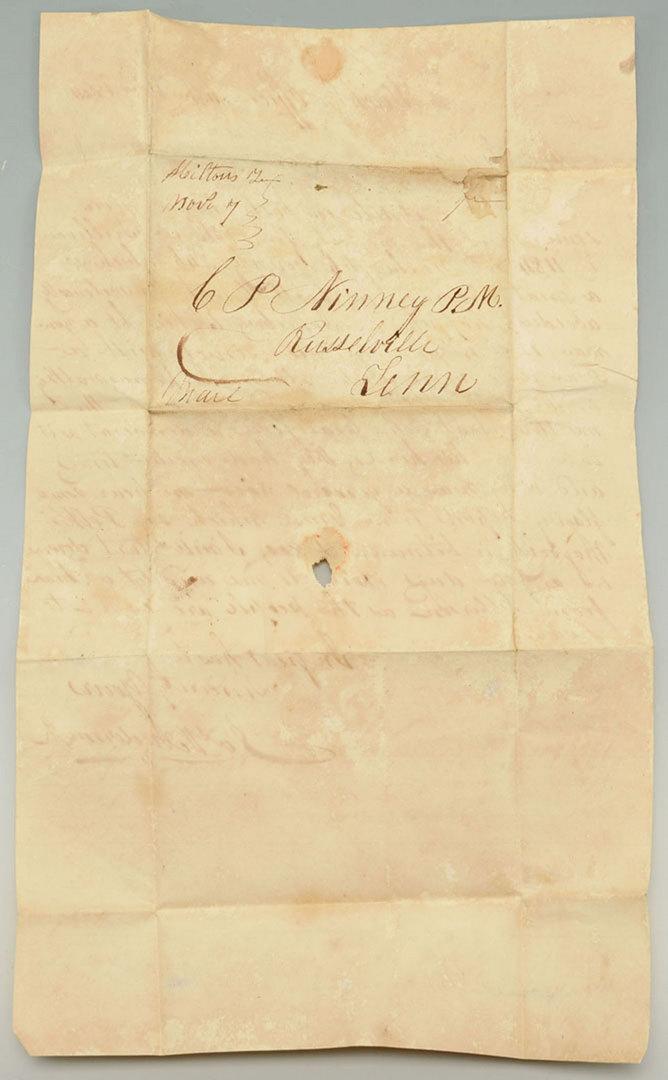 Lot 141: East TN documents inc. Polk election letter, Churc