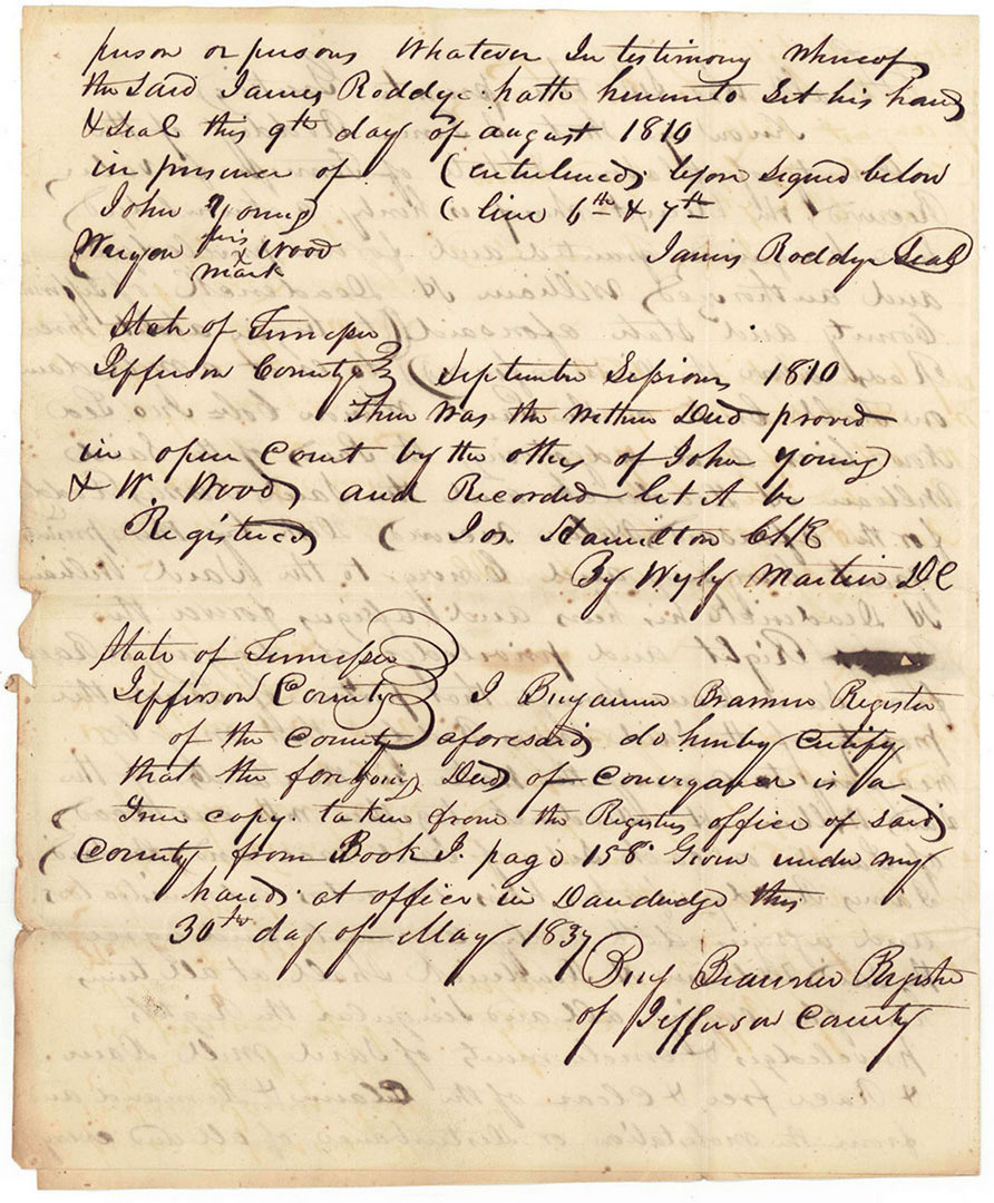Lot 143: 3 Documents Rev. War Colonel James Roddye