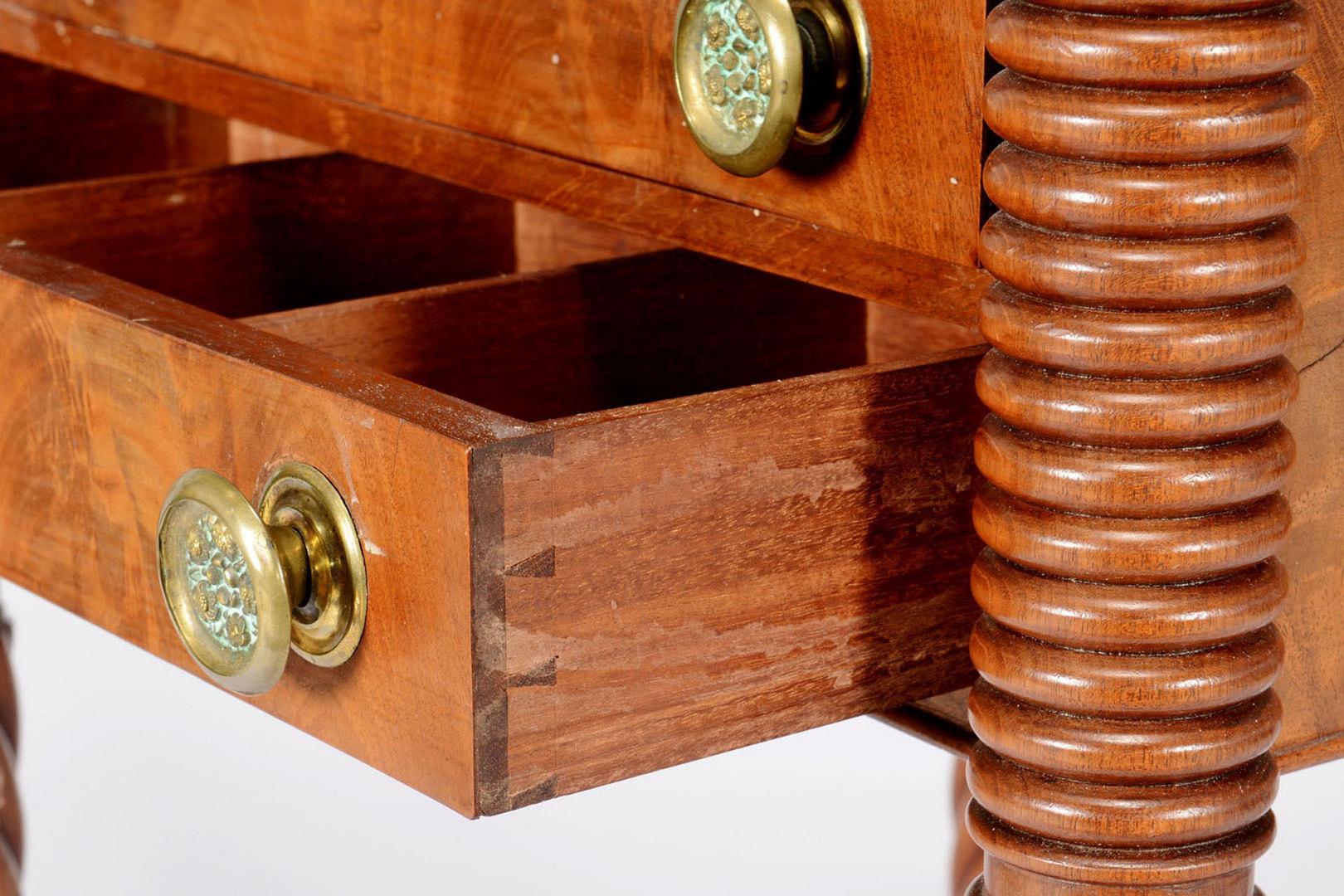 Lot 155: American Sheraton mahogany work/writing table