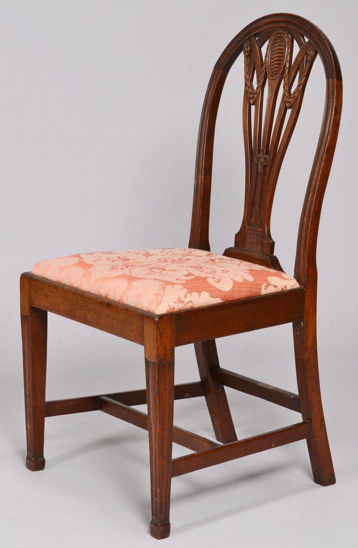 Lot 157: Two Hepplewhite Side Chairs