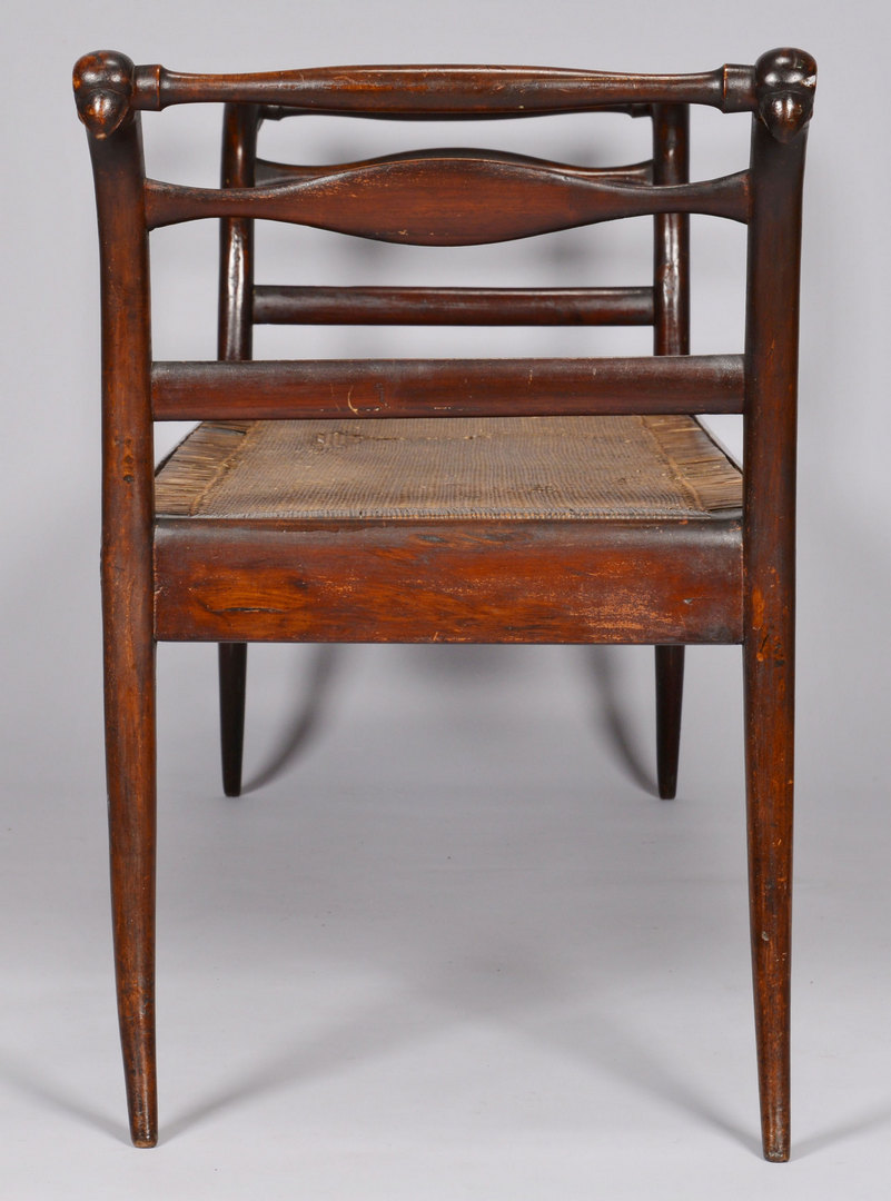 Lot 158: Empire Classical Caned Bench or Daybed w/ bird hea