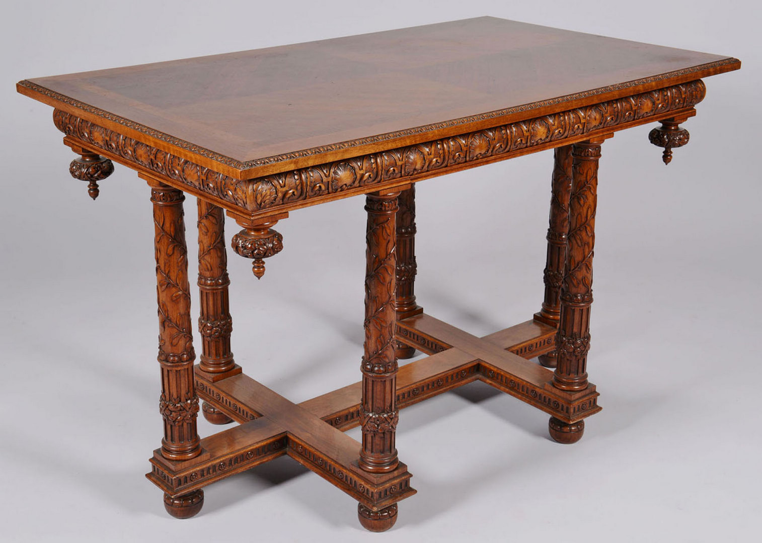 Lot 159: Carved European Library Table