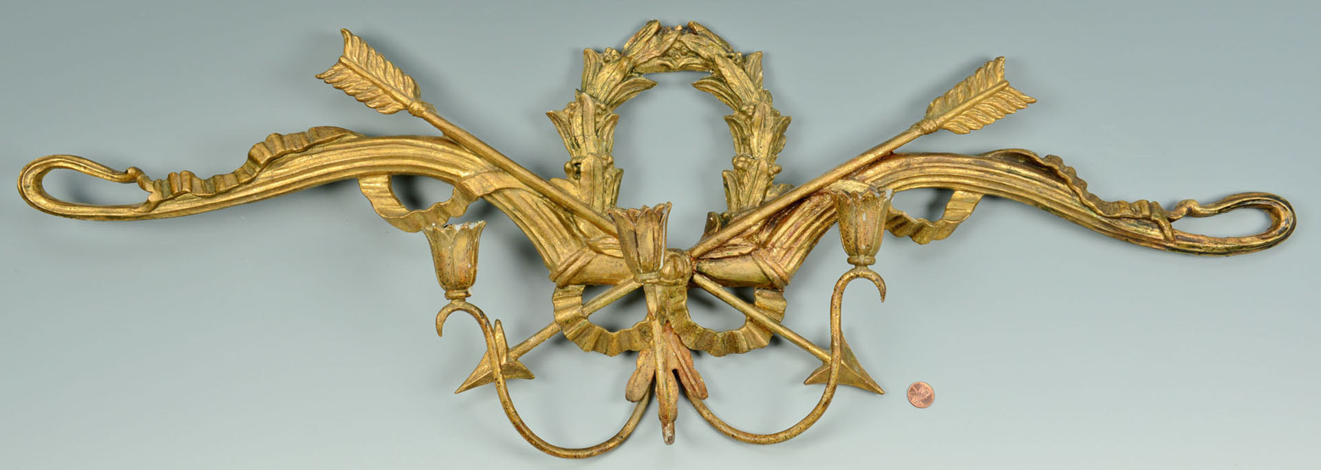 Lot 160: Palladio Italian Gilt Wood Sconce