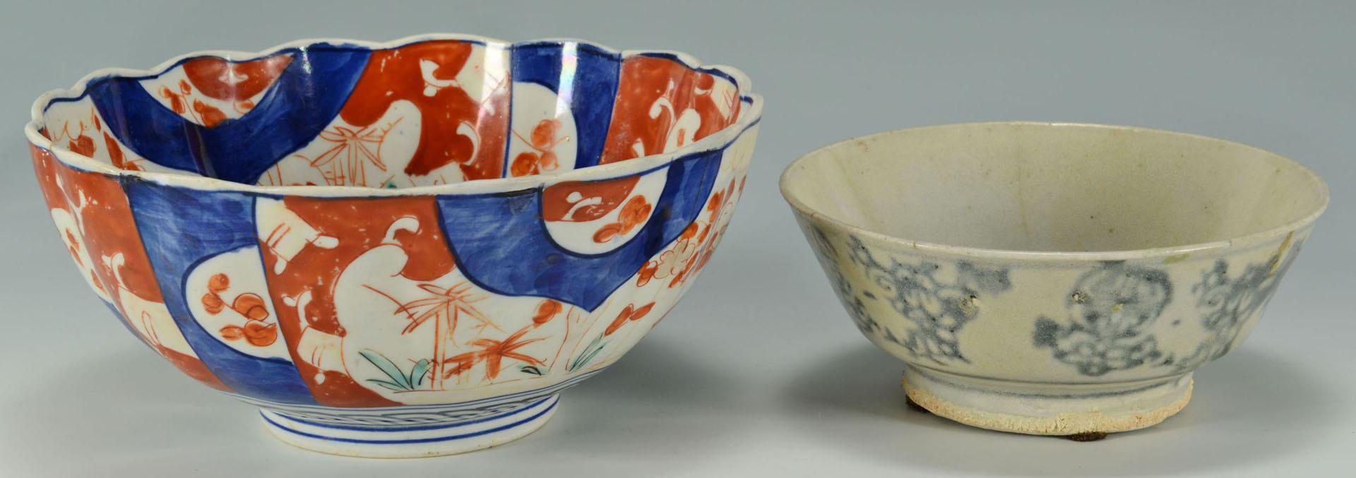 Lot 163: 8 pcs English & Asian Porcelain, inc. inkwell