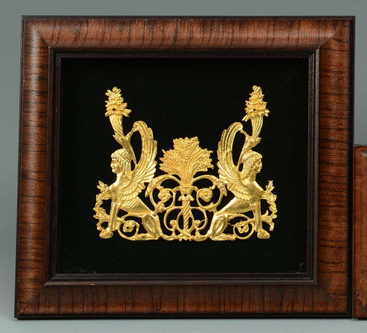 Lot 164: Group of 9 Framed Gilt Ornament Plaques plus 2 Fre