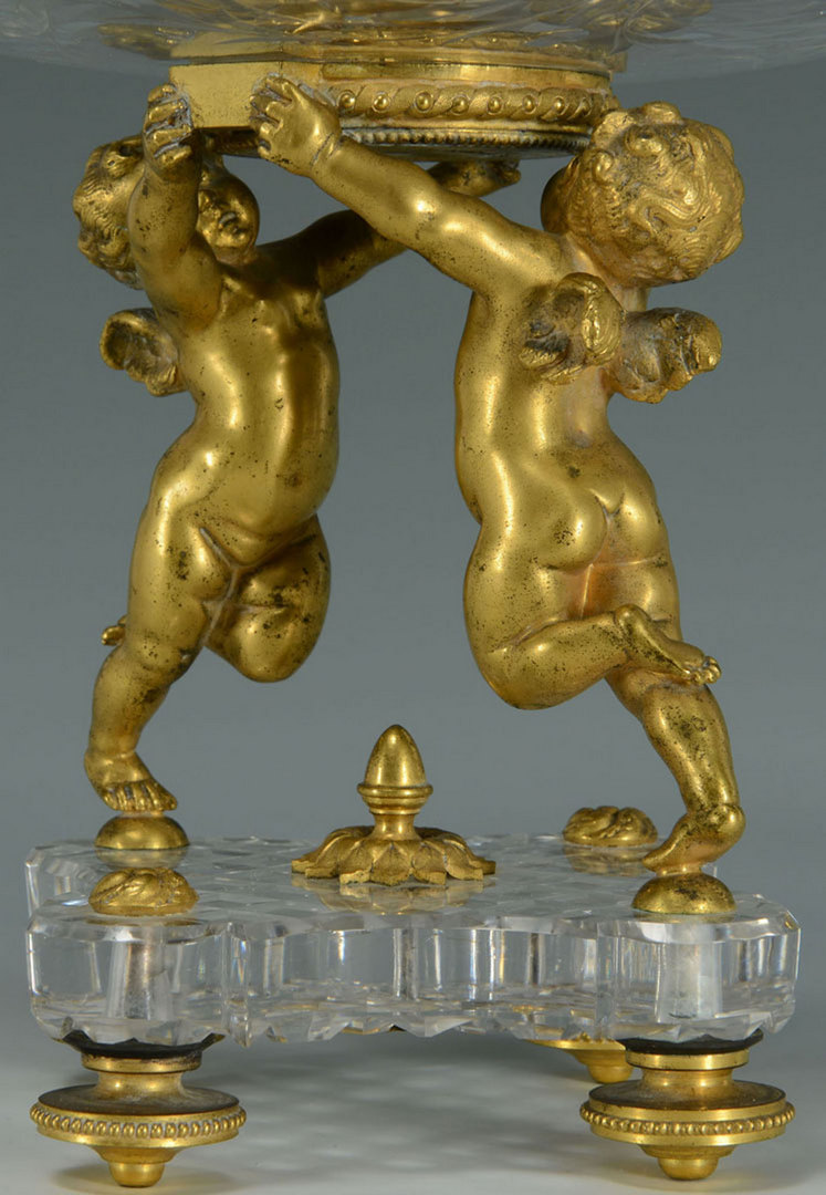Lot 165: Baccarat Crystal & Gilt Bronze Figural Epergne