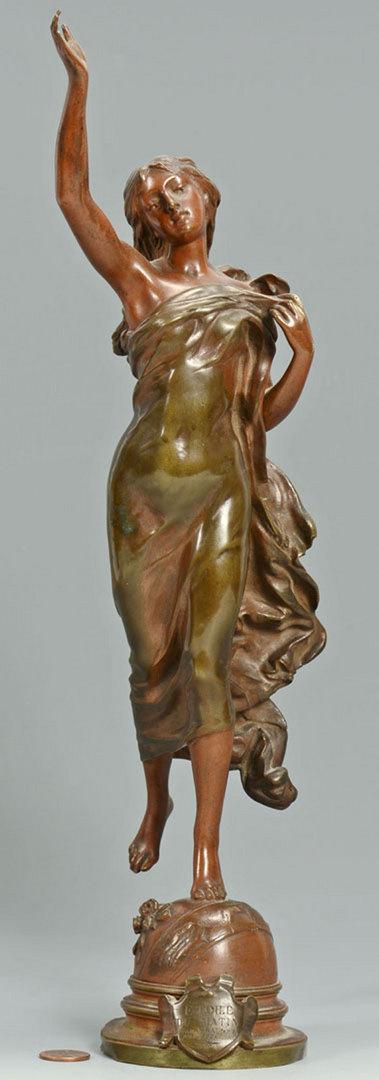 """Lot 167: Adrien Gaudez bronze, """"Etoile du Matin"""""""