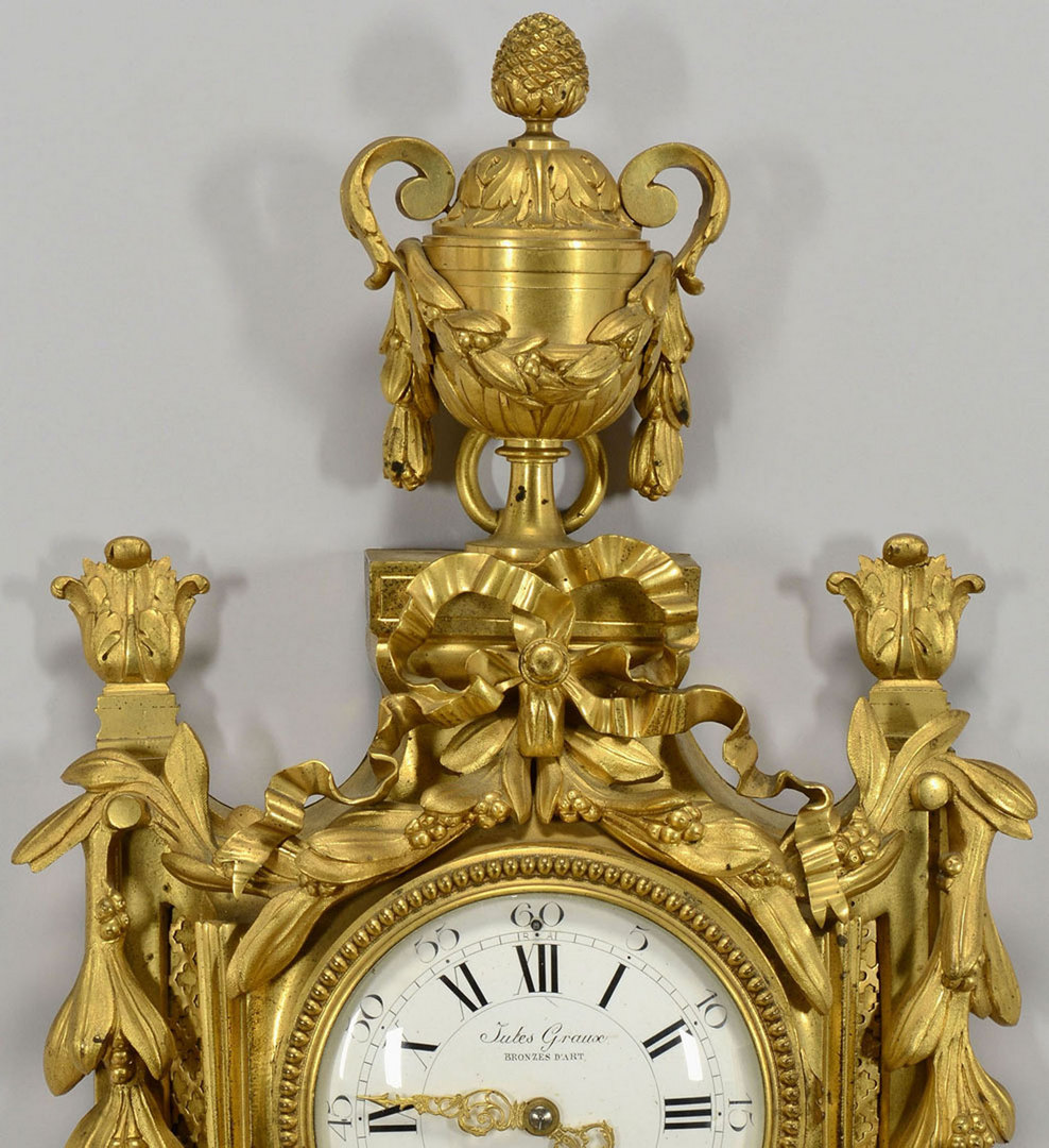 Lot 168: Jules Graux Gilt Bronze French Wall Clock