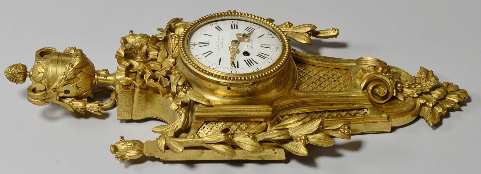 Lot 168: Jules Graux Gilt Bronze French Wall Clock