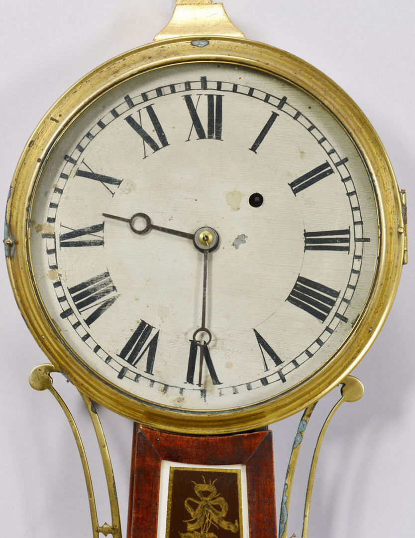 Lot 171: Eglomise Banjo Clock