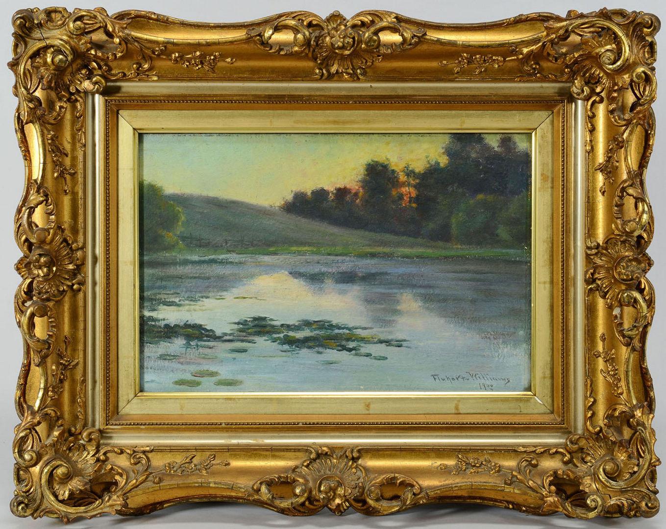 Lot 177: Oil on Board Landscape, Harry D. Fluhart Williams