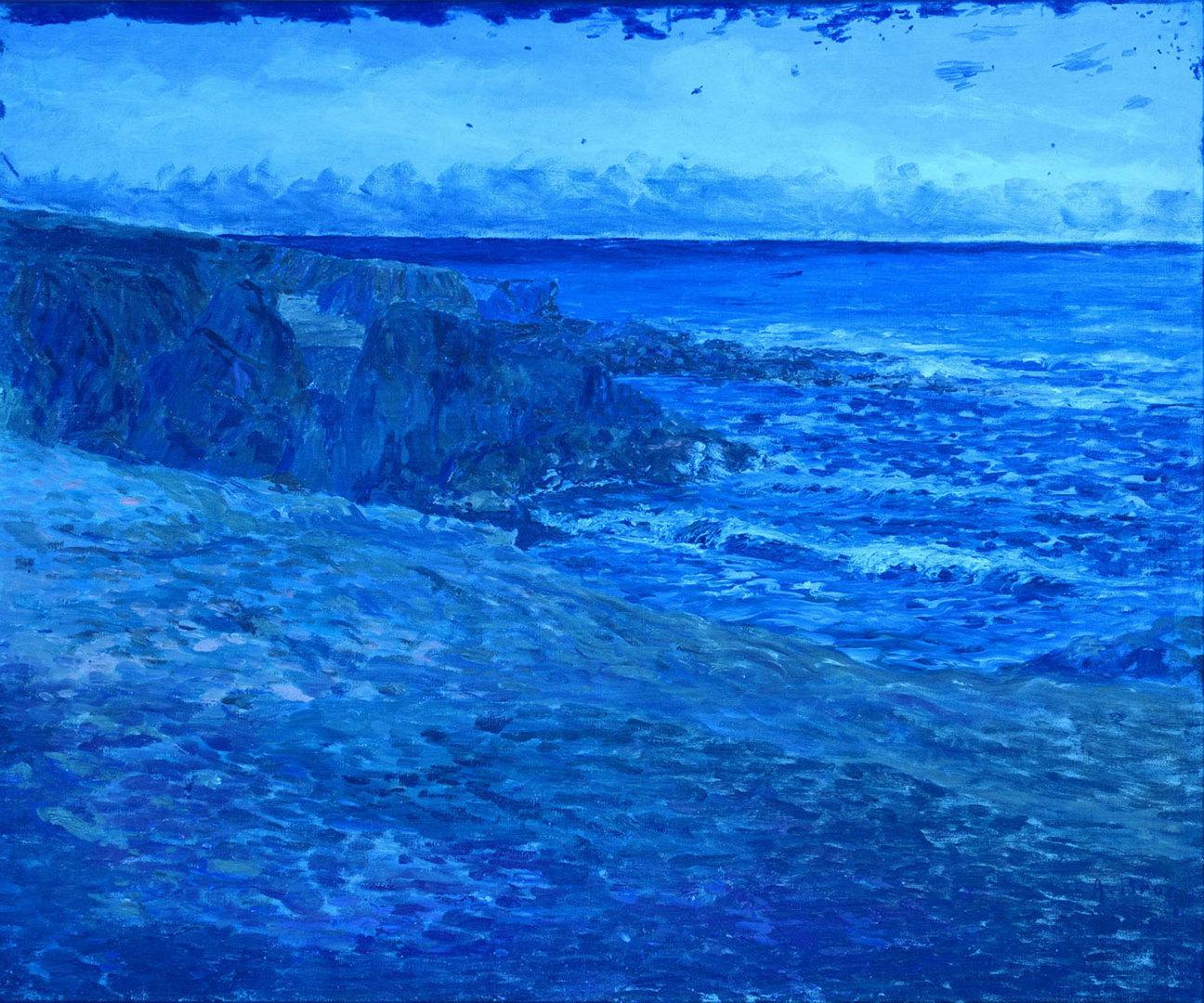 Lot 180: Achille Bron o/c coastal landscape