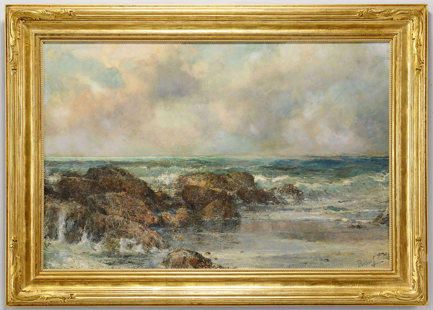 Lot 181: Prosper Louis Senat oil on canvas, South Shore, Be