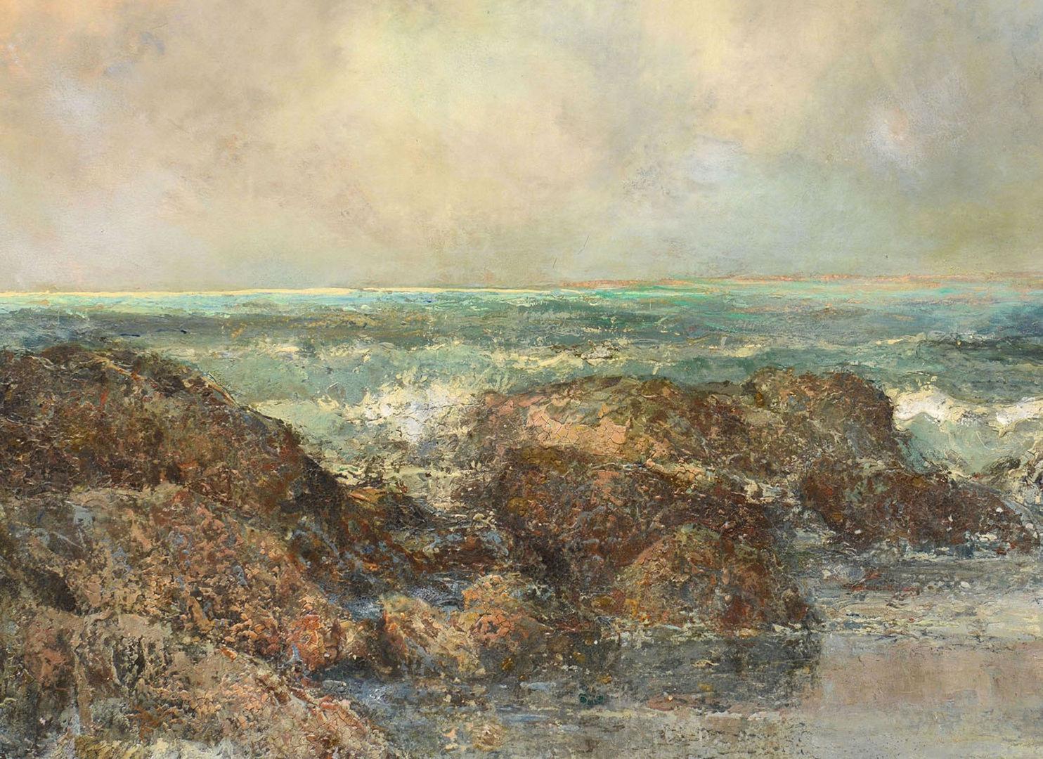 Lot 181: Prosper Louis Senat oil on canvas, South Shore, Be