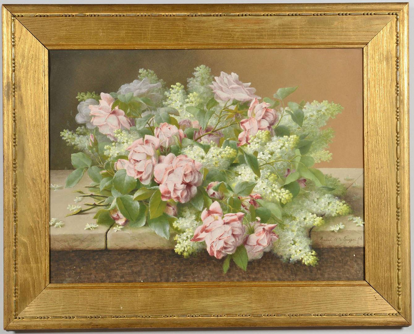 Lot 183: Raoul De Longpre Floral Still Life Painting