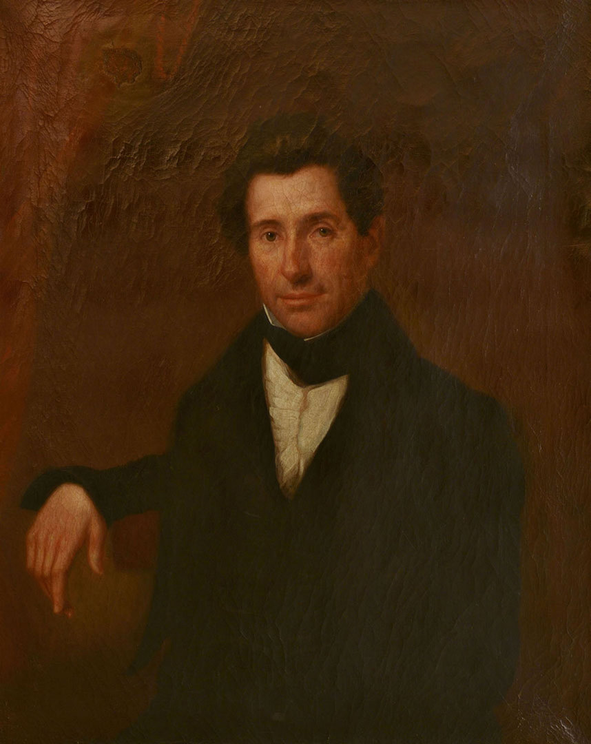 Lot 185: Oil on Canvas Portrait, William Spencer Hungerfor