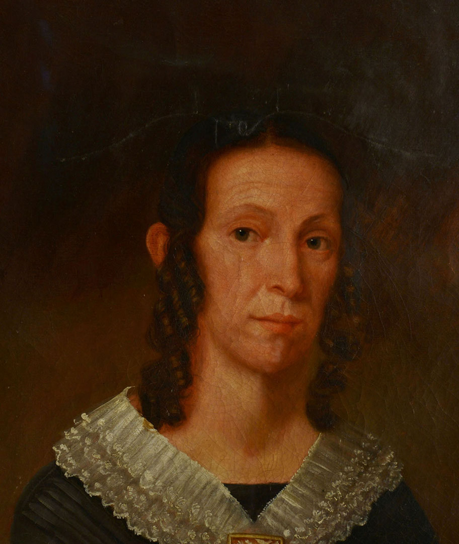 Lot 186: Oil on Canvas Portrait, Lucinda Hart Hungerford