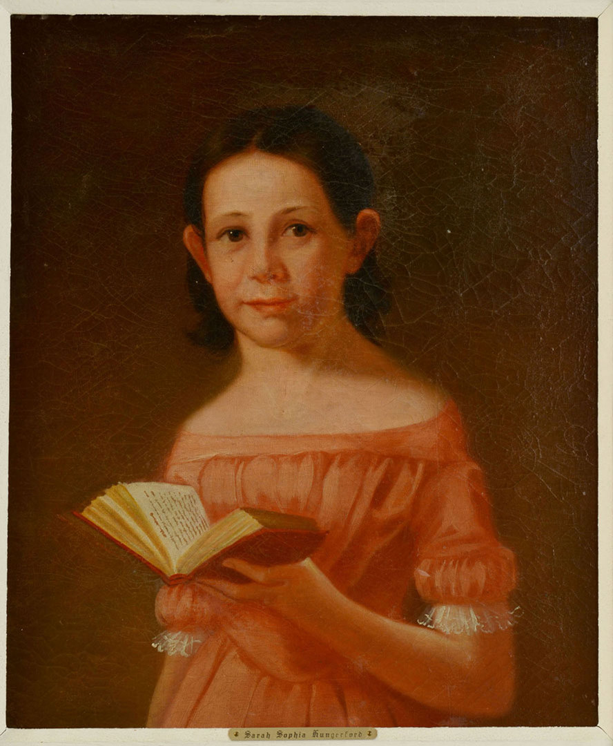 Lot 187: Oil on Canvas Portrait, Sarah Hungerford