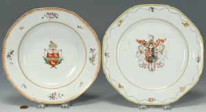 Lot 18: Two Chinese Export Armorial Dishes