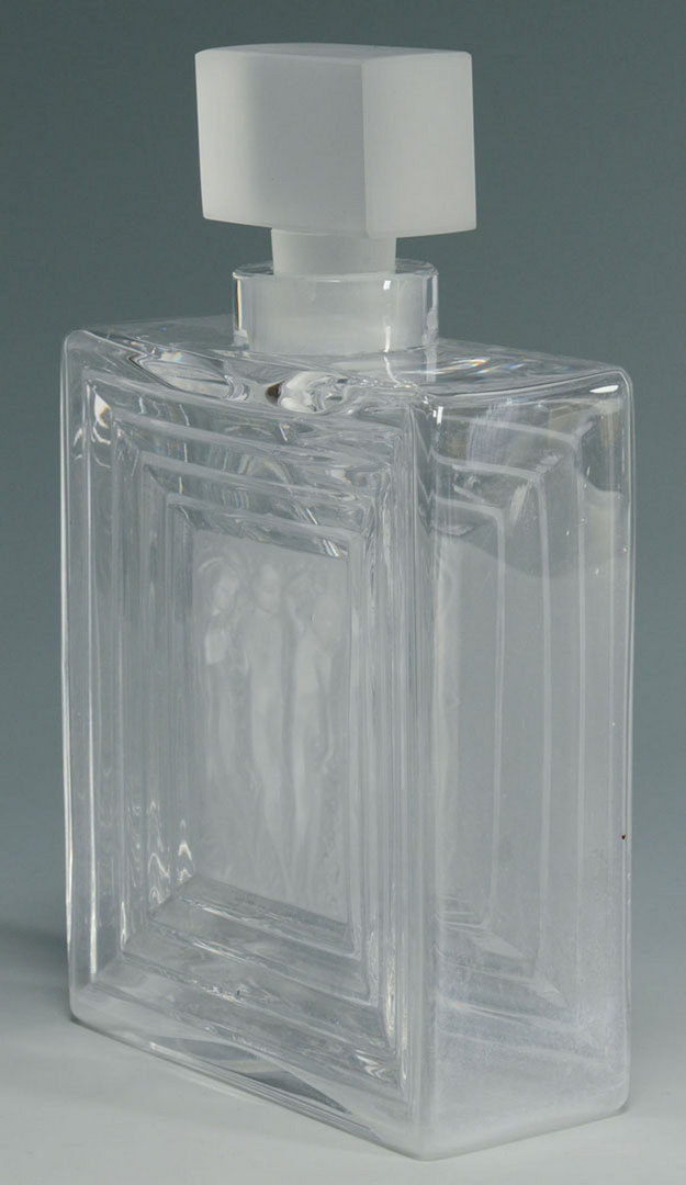 "Lot 197: Lalique ""Three Nudes"" French Crystal Decanter"