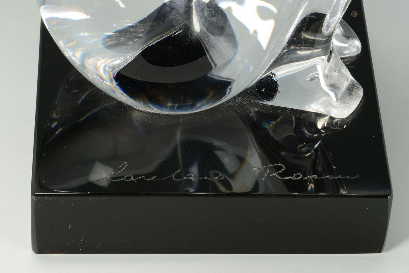 Lot 200: Loredano Rosin Murano Glass Sculpture, seated nude