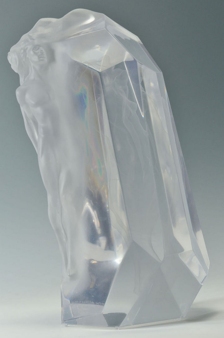 Lot 201: Fred Hart Lucite Sculpture, Lovers