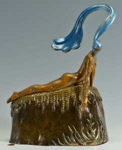 "Lot 202: Erte Bronze Sculpture ""French Rooster"""