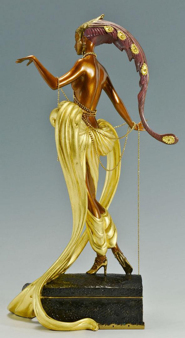 "Lot 204: Erte Bronze Sculpture ""Pleasure of the Courtesan"""