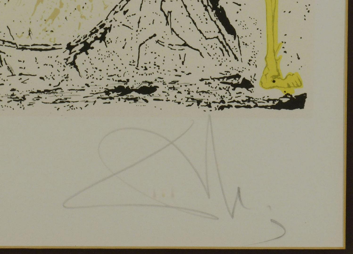 "Lot 207: Salvador Dali Lithograph, ""Metamorphose Hidalgo"""